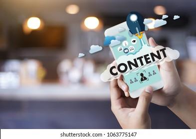 Content Marketing Data Blogging Media Publishing Information Vision Content Concept