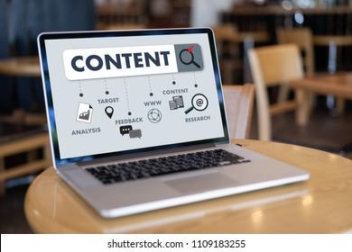 content marketing Content Data Blogging Media Publication Information Vision Concept