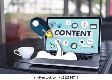 content marketing Content Data Blogging Media Publication Information Vision Concept - Shutterstock ID 1112514746