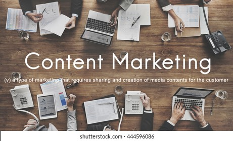 Content Marketing Social Media Advertising Commercial Branding Concept