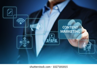 Content Marketing Strategy Business Technology Internet Concept.