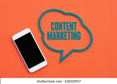Content Marketing, Technology Concept