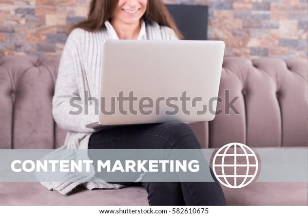 Content Marketing Technology Concept