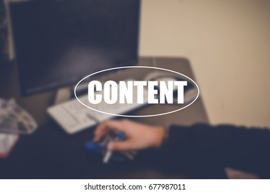 content text with businessman in office blurring background, business technology and internet concept