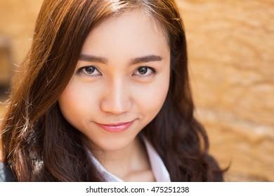 Content Young Businesswoman Portrait