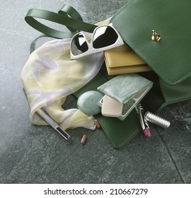 Contents Spilling From A Handbag