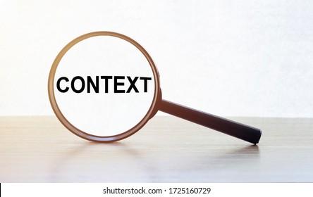 CONTEXT text on the magnifiyg