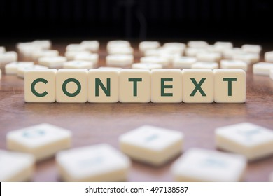 CONTEXT word on block concept