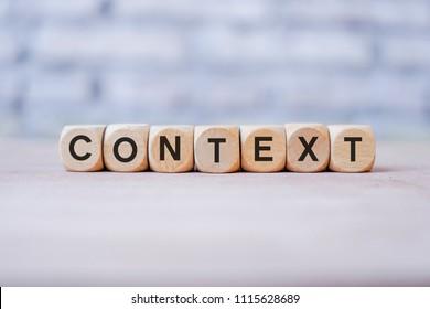 Context word written on wood block
