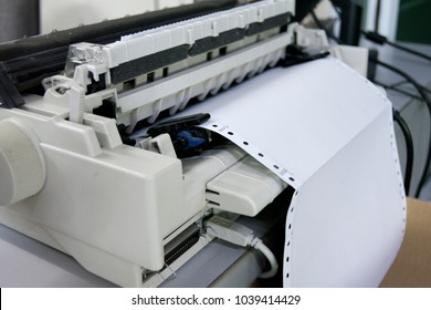 Continuous paper printer in the office