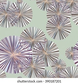 Continuous pattern  of  abstract dandelion