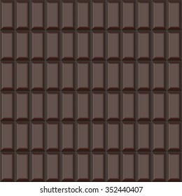 Continuous pattern  of   chocolate   bar