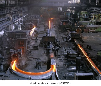 Continuous rolling mill. Pipes