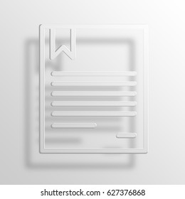 contract 3D Paper Icon Symbol Business Concept