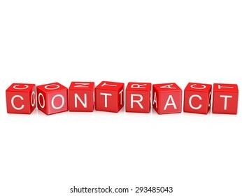 Contract - Alphabet blocks isolated
