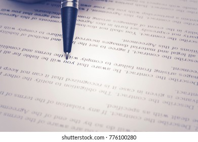 Contract documents Business concept
