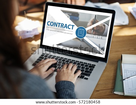 Contract Fair Agreement Webpage Interface Stock Photo Edit Now