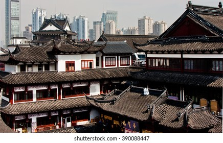 Contract of Old and New in Shanghai, China.