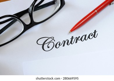 Contract on the desk