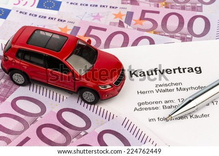contract sale buying car car dealer stock photo edit now 224762449