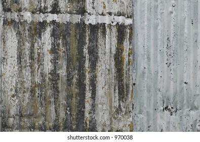 contrast between worn wood and metal