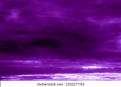 Contrast purple sky