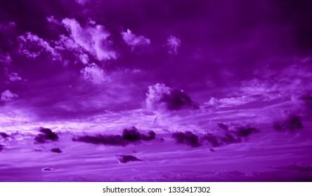 Contrast purple sky