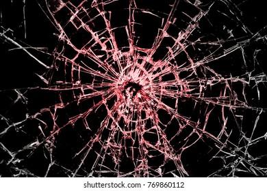 contrasting broken glass on a black background