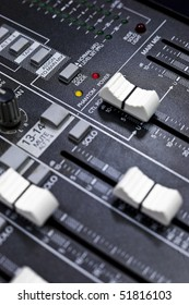 A control board for broadcasting.
