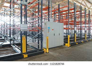 Control Box for Powered Mobile Shelving System in Warehouse