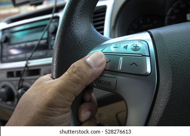 Control buttons in car