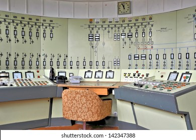 Control center in a disused mine