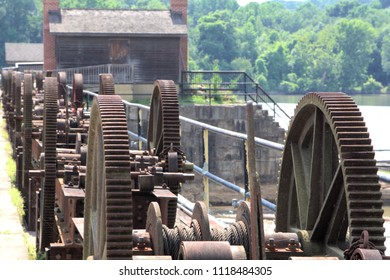 Control gears for the old dam at the entry point of the canal in Columbia, SC.