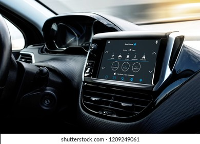 Smart Car Dashboard Images, Stock Photos & Vectors