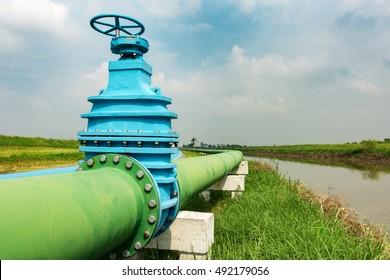 Control main valve, Water control main valve, Pipeline distribution, Water pipeline distribution.