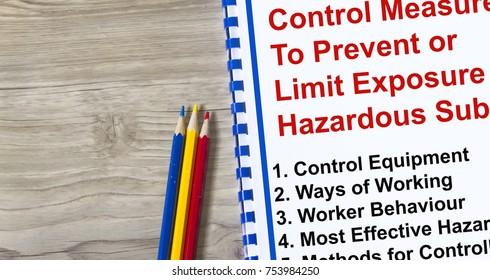 Control measure to limit exposure to hazardous substance concept.