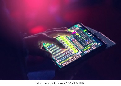 Control and mix sound through the tablet screen.
