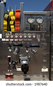 Control panel of common fire truck