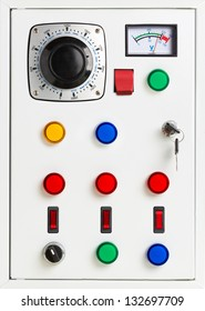 Control panel of an electrical switchgear cabinet