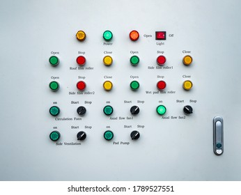 Control panel , push button and selector switch of control panel