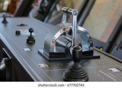 Control panel in ship with steering gear