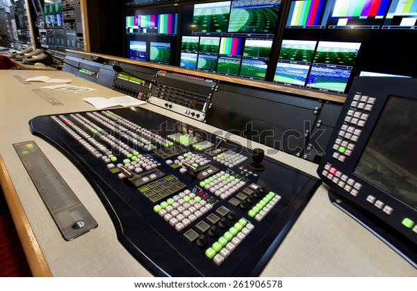 The control panel in the studio