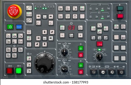 Control panel texture with lots of buttons