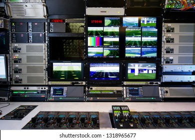 control panel tv channel studio news on television