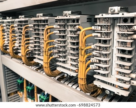 Excellent Control Panel Wiring Inside Control Cabinet Stock Photo Edit Now Wiring 101 Cranwise Assnl