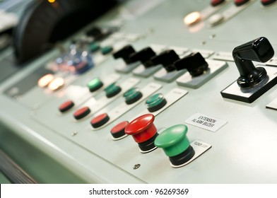 Control room of a extra large cargo ship