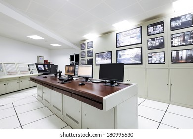 Control room of the modern office