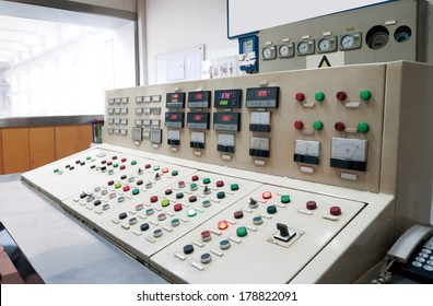 Control room of a nuclear power generation plant