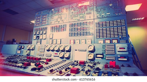 Control room of an old power generation plant