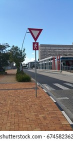 Control sign for zebra crossing at Waterfront, Cape Town, Western Cape, South Africa